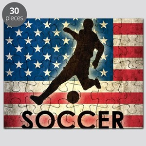 Grunge USA Soccer Puzzle
