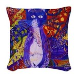 Arriving, the Power of Love Woven Throw Pillow