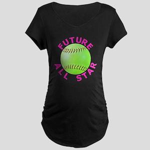 Kids Softball Maternity Dark T-Shirt