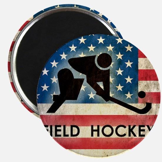 Grunge USA Hockey Magnet