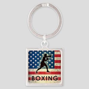 Grunge Boxing Square Keychain