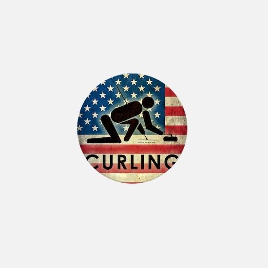 Grunge Curling Mini Button