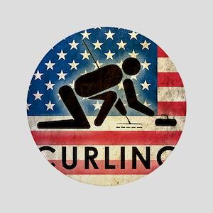 """Grunge Curling 3.5"""" Button"""