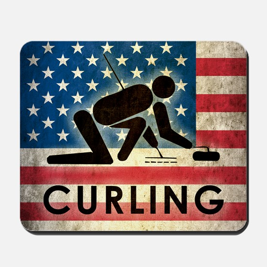 Grunge Curling Mousepad
