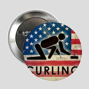 """Grunge Curling 2.25"""" Button"""