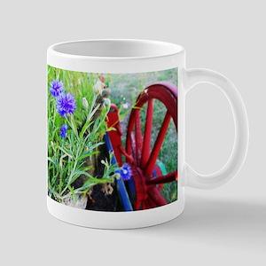 Flowers on Wagon Mugs