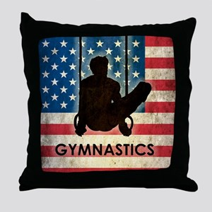 Grunge Gymnastics Throw Pillow