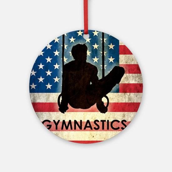 Grunge Gymnastics Round Ornament