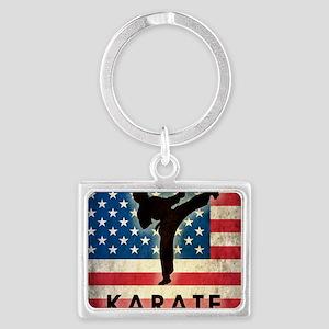 Grunge Karate Landscape Keychain
