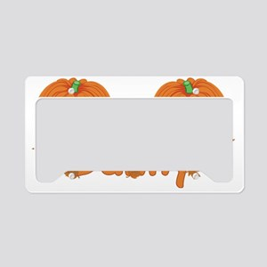 Halloween Pumpkin Danny License Plate Holder