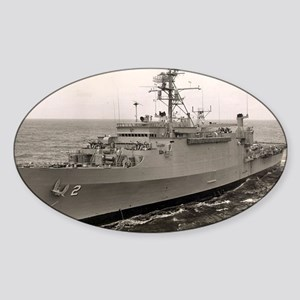 uss vancouver framed panel print Sticker (Oval)