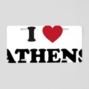 I Love Athens Aluminum License Plate
