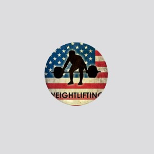 Grunge Weightlifting Mini Button