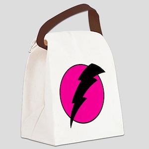 Flash Bolt Pink Lightning Canvas Lunch Bag