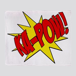 pow, kapow, ka-pow Throw Blanket