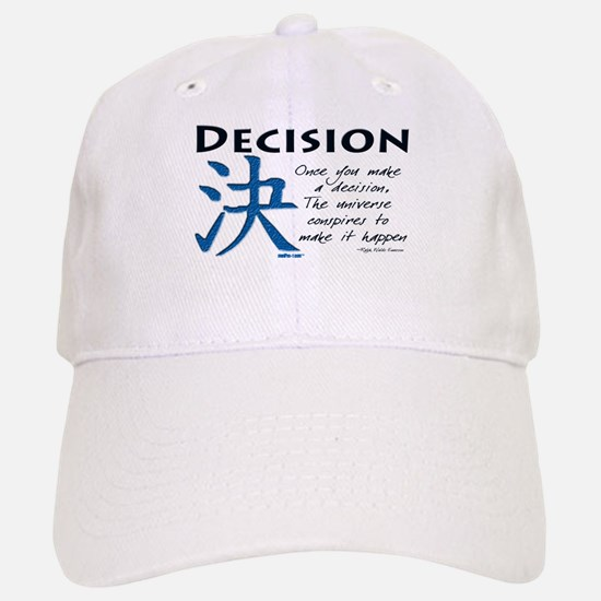 Decision Baseball Baseball Cap