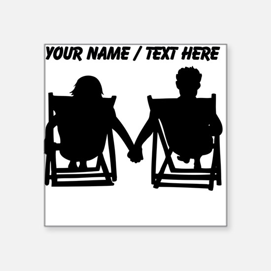 Custom Couple Relaxing Sticker