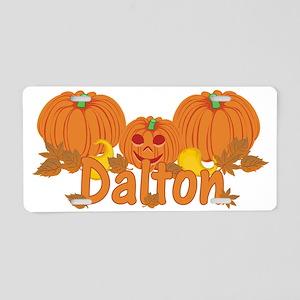 Halloween Pumpkin Dalton Aluminum License Plate