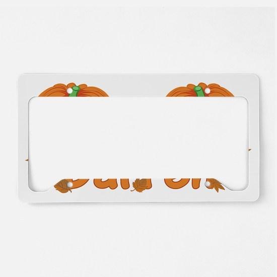 Halloween Pumpkin Darren License Plate Holder