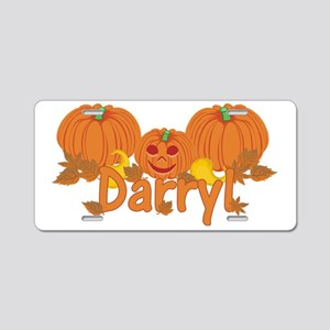Halloween Pumpkin Darryl Aluminum License Plate