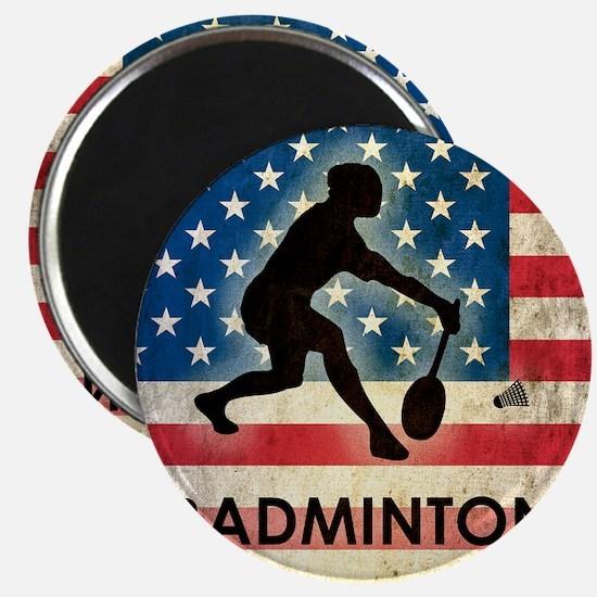Grunge USA Badminton Magnet