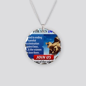 JOIN NCFM Necklace Circle Charm