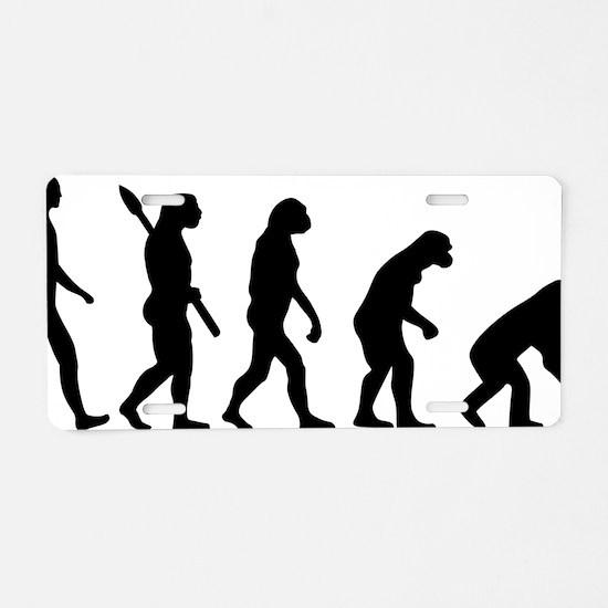 Evolution backwards Aluminum License Plate