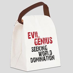 evil genius Canvas Lunch Bag