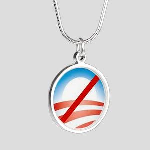 Nobama Silver Round Necklace