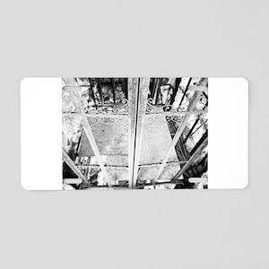 Old Elevator Aluminum License Plate