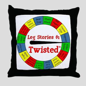 Twisted Leg Stories Throw Pillow