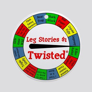 Twisted Leg Stories Round Ornament