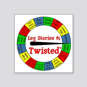 "Twisted Leg Stories Square Sticker 3"" x 3"""
