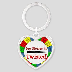 Twisted Leg Stories Heart Keychain