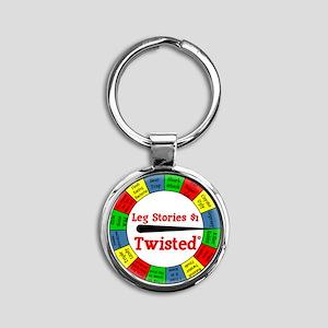 Twisted Leg Stories Round Keychain