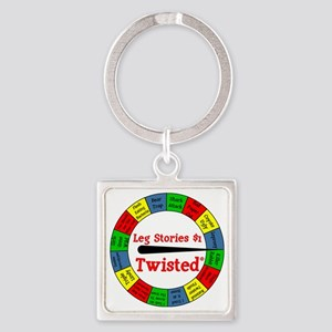 Twisted Leg Stories Square Keychain