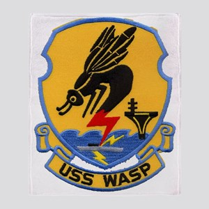 uss wasp cvs patch transparent Throw Blanket