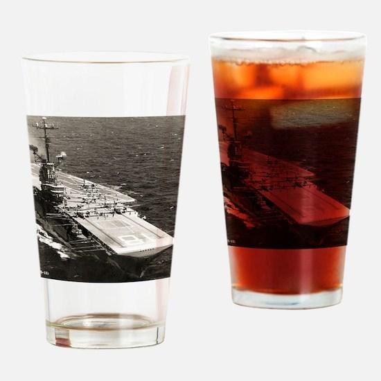 uss wasp cvs framed panel print Drinking Glass