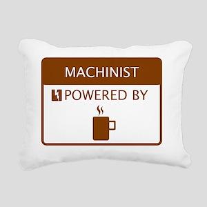 Machinist Powered by Cof Rectangular Canvas Pillow