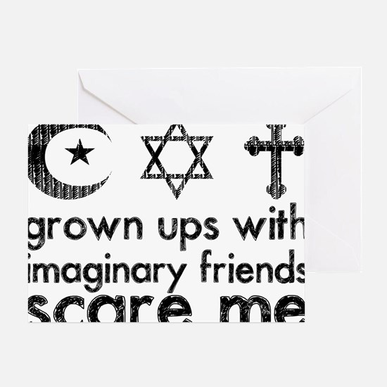imaginary friends Greeting Card
