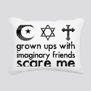 imaginary friends Rectangular Canvas Pillow