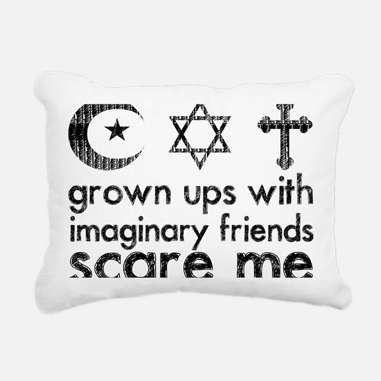imaginary friends Rectangular Canvas Pillow