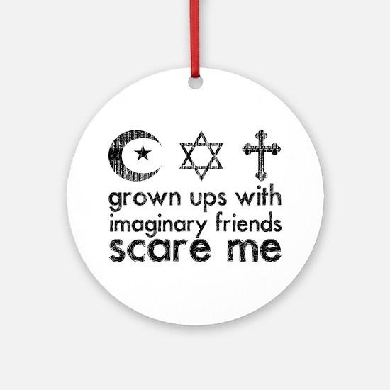 imaginary friends Round Ornament
