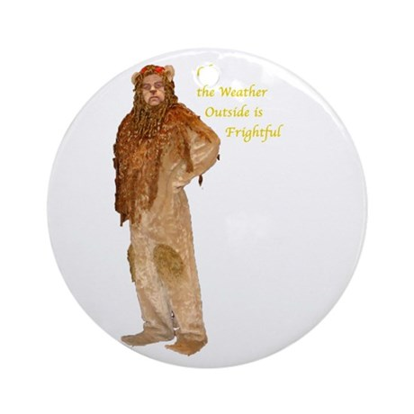 Lion Holiday Ornament (Round)
