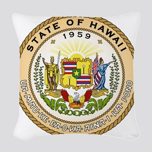 Hawaii State Seal Woven Throw Pillow
