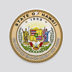 Hawaii State Seal Round Ornament