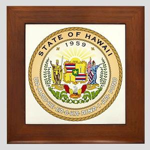 Hawaii State Seal Framed Tile