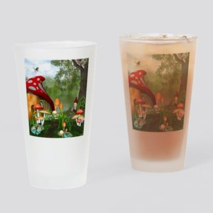 Dwarves Land Drinking Glass