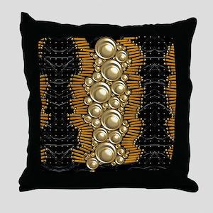 Harvest Moons Art Deco Bubbles Throw Pillow