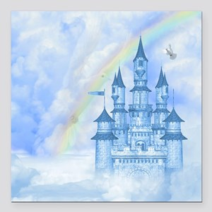 "Dream Castle Square Car Magnet 3"" x 3"""